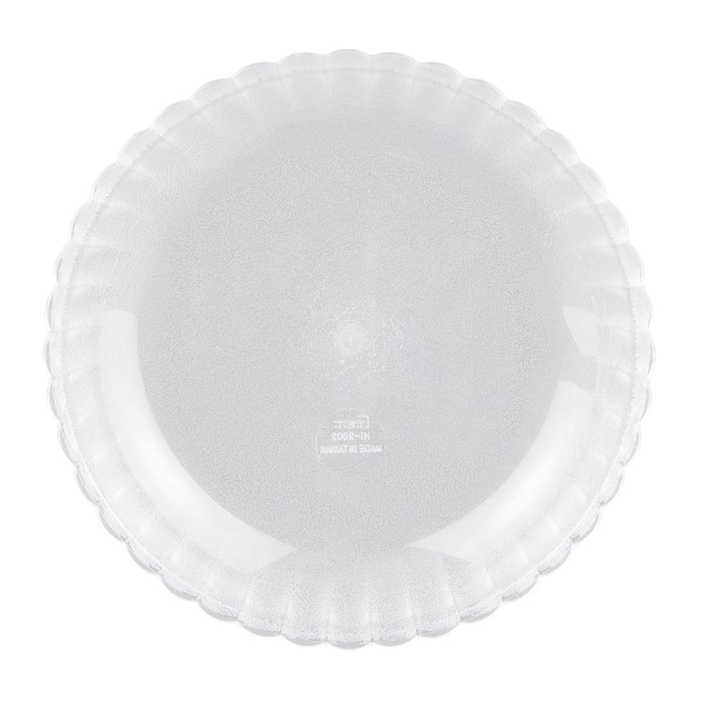 "GET HI-2002-CL 8"" Round Salad Plate w/ 24-oz Capacity, Polycarbonate, Clear"