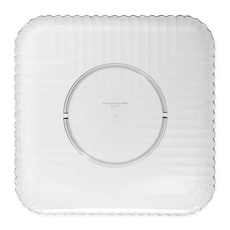 "GET HI-2009-CL 12"" Square Dinner Plate, Polycarbonate, Clear"