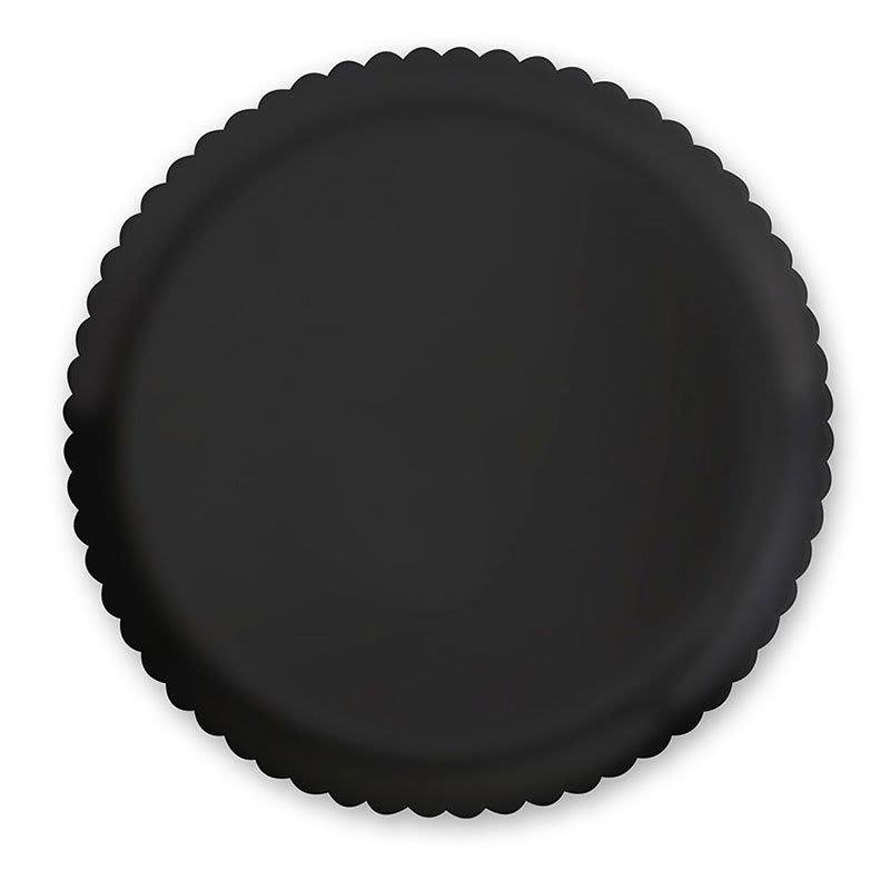"GET HI-2010-BK 13"" Round Dinner Plate, Polycarbonate, Black"