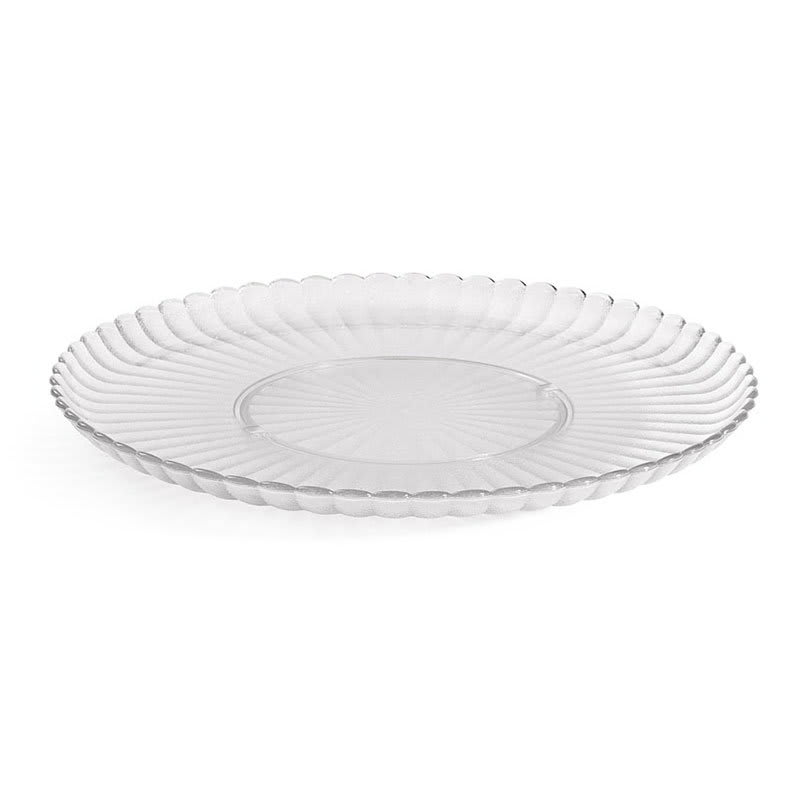 "GET HI-2010-CL 13"" Round Dinner Plate, Polycarbonate, Clear"