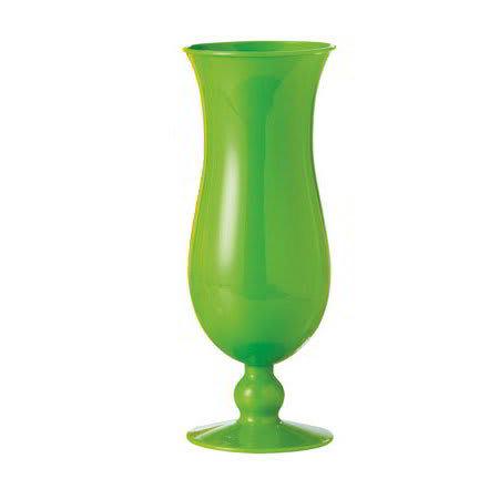 GET HUR-1-PC-G 15 oz Hurricane Glass, Polycarbonate, Green