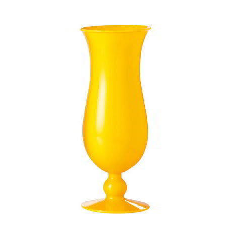 GET HUR-1-PC-Y 15 oz Hurricane Glass, Polycarbonate, Yellow