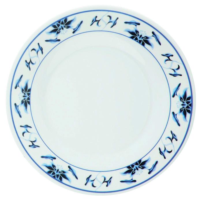 "GET KT-415-B 12"" Round Dinner Plate, Melamine, White"