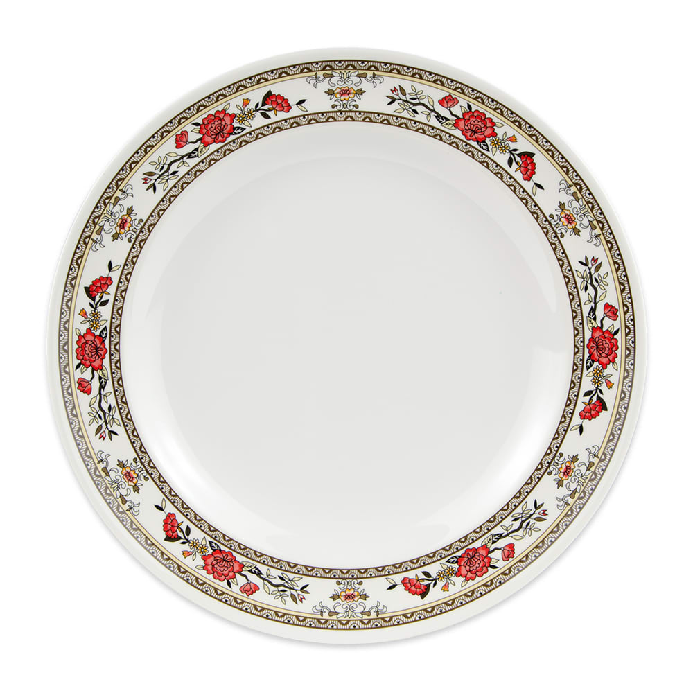 "GET KT-415-CG 12"" Round Dinner Plate, Melamine, White"