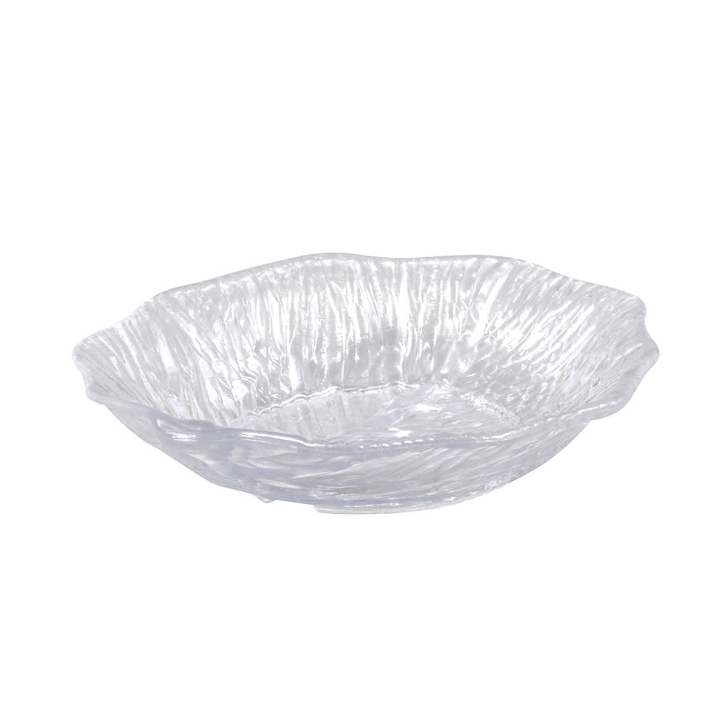 "GET LE-600-CL 6"" Leaf-Shaped Serving Platter, Melamine, Clear"