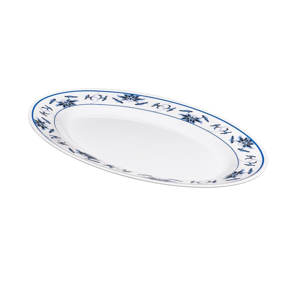 """GET M-4010-B Oval Serving Platter, 16.25"""" x 12"""", Melamine, White"""