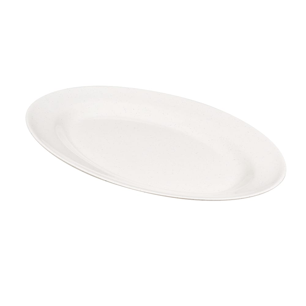 "GET M-4010-IR Oval Serving Platter, 16.25"" x 12"", Melamine, White"