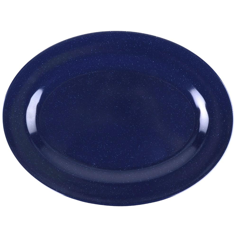 """GET M-4010-TB Oval Serving Platter, 16.25"""" x 12"""", Melamine, Blue"""