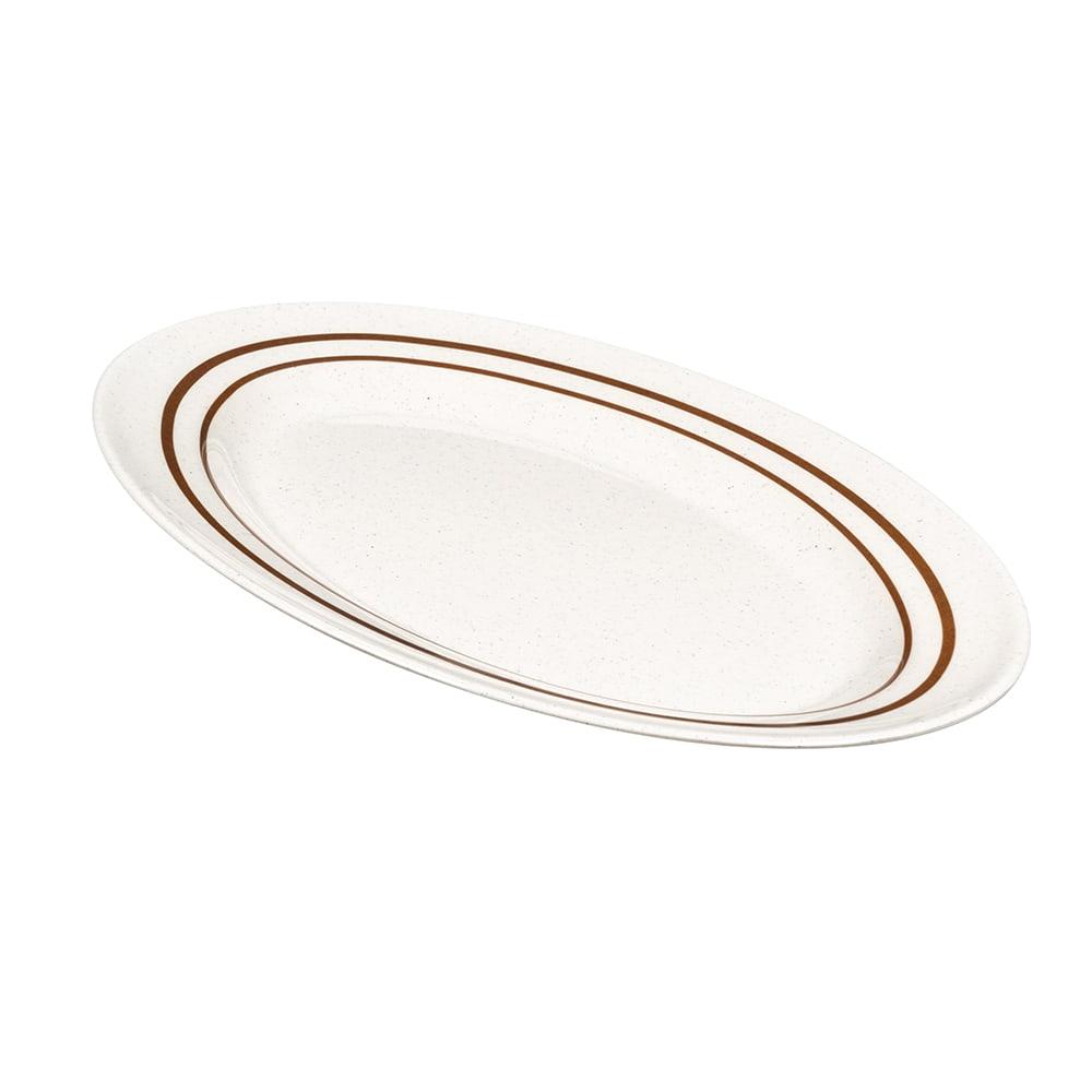 """GET M-4010-U Oval Serving Platter, 16.25"""" x 12"""", Melamine, White"""