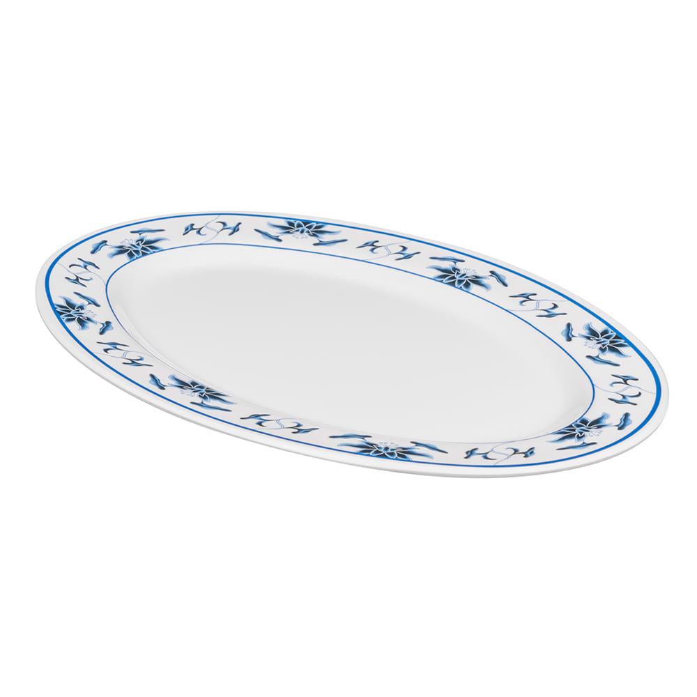 """GET M-4020-B Oval Serving Platter, 14"""" x 10"""", Melamine, White"""