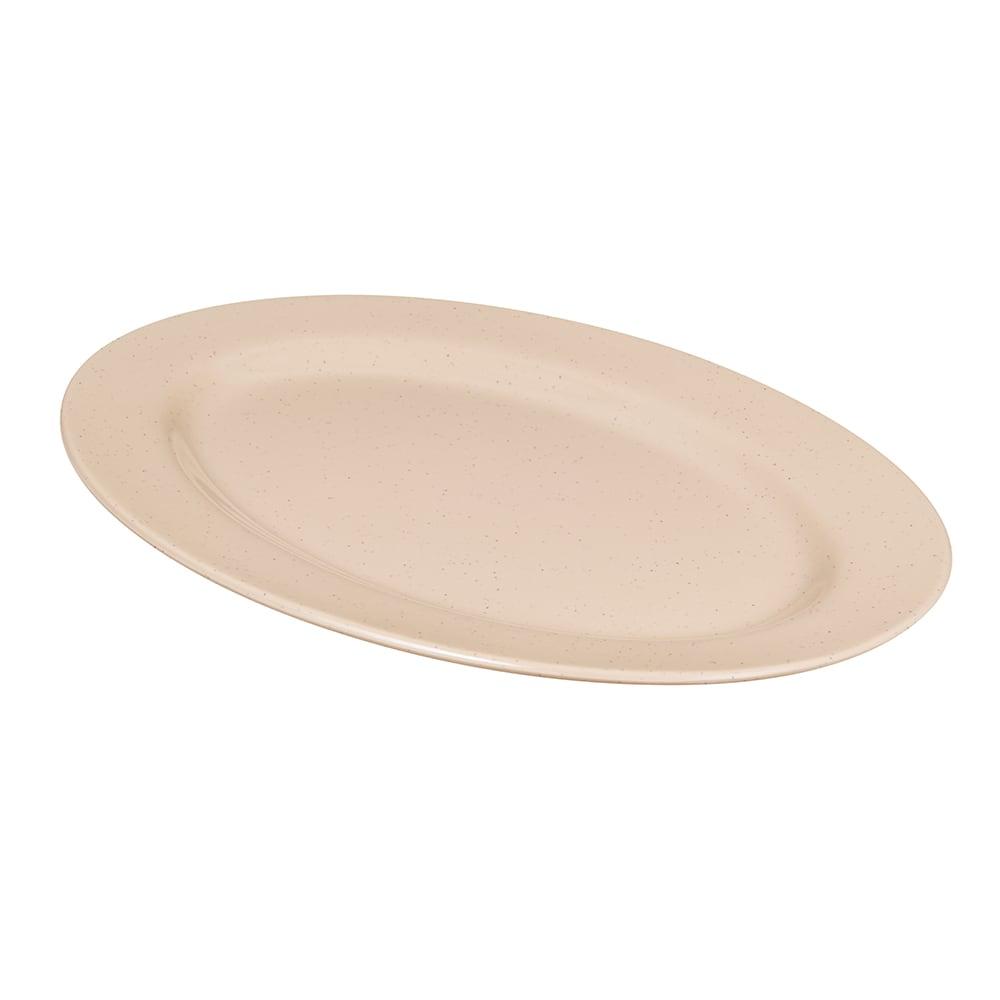 """GET M-4020-S Oval Serving Platter, 14"""" x 10"""", Melamine, Brown"""