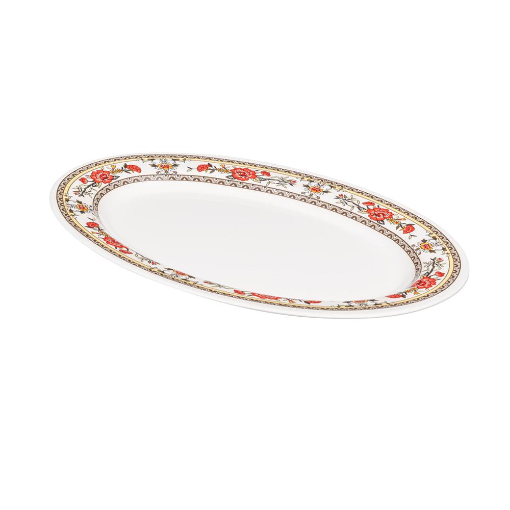 "GET M-4030-CG Oval Serving Platter, 12.25"" x 8.75"", Melamine, White"