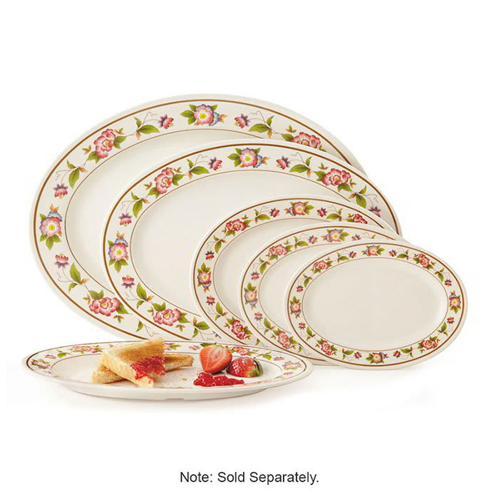 "GET M-4050-TR Oval Serving Platter, 9"" x 6.5"", Melamine, White"