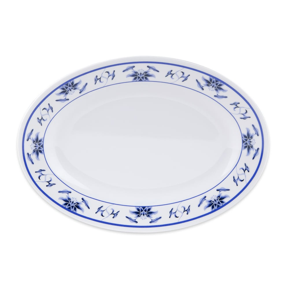 """GET M-408-B Oval Serving Platter, 8"""" x 5.75"""", Melamine, White"""