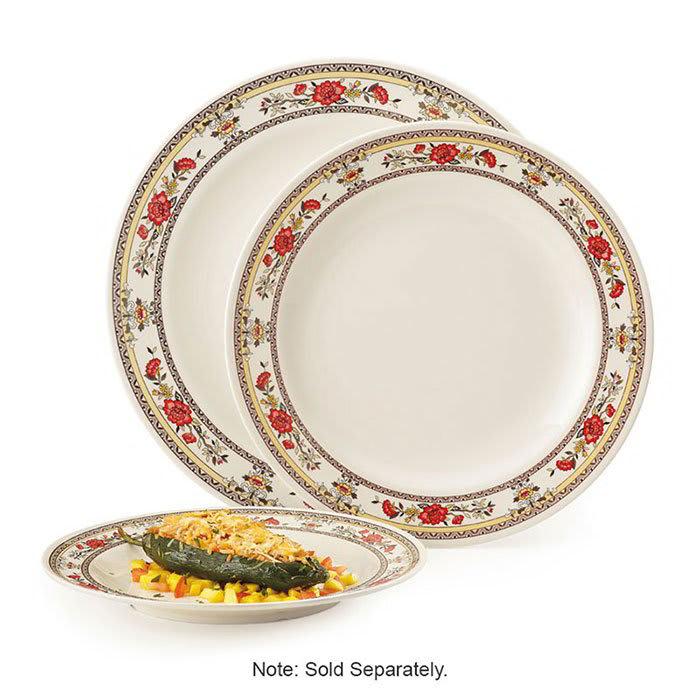 "GET M-417-CG 14"" Round Dinner Plate, Melamine, White"