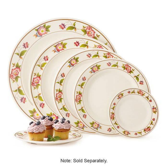 "GET M-417-TR 14"" Round Dinner Plate, Melamine, White"