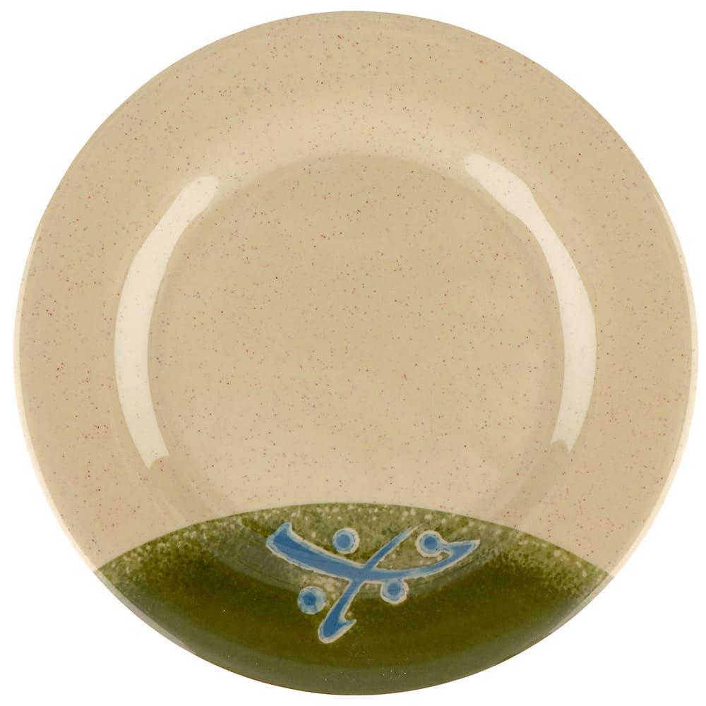 """GET M-5080-TD 9.5"""" Round Salad Plate, Melamine, Brown"""