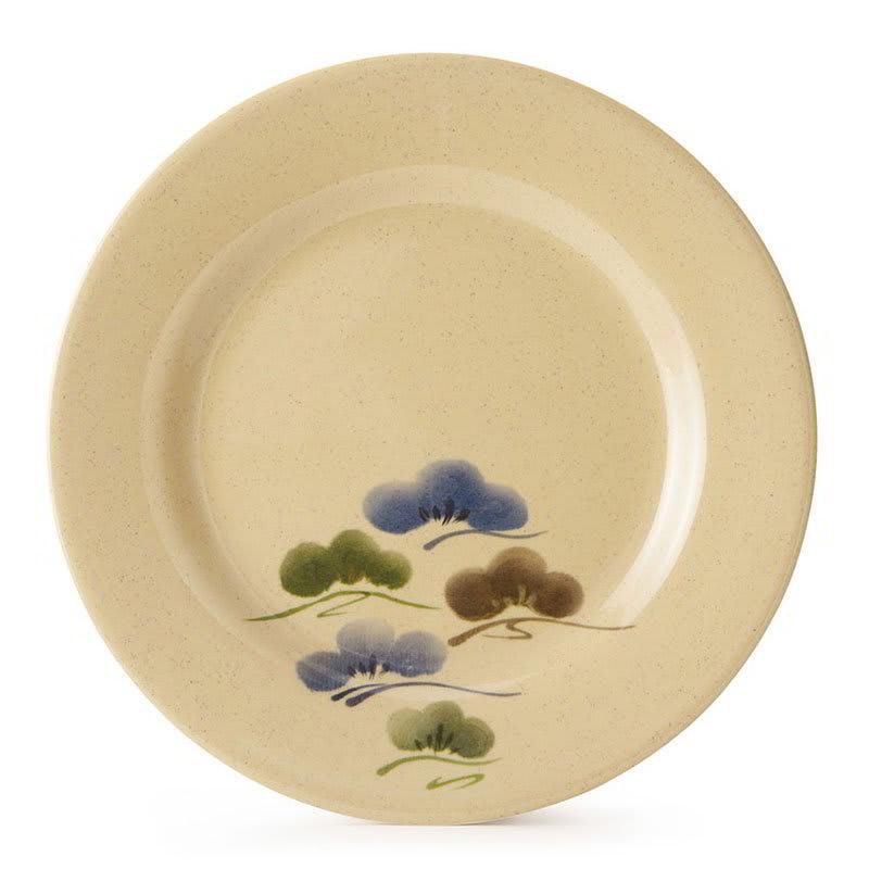 "GET M-5080-TK 9.5"" Round Salad Plate, Melamine, Brown"