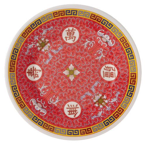 "GET M-5090-L 10.5"" Round Dinner Plate, Melamine, White"