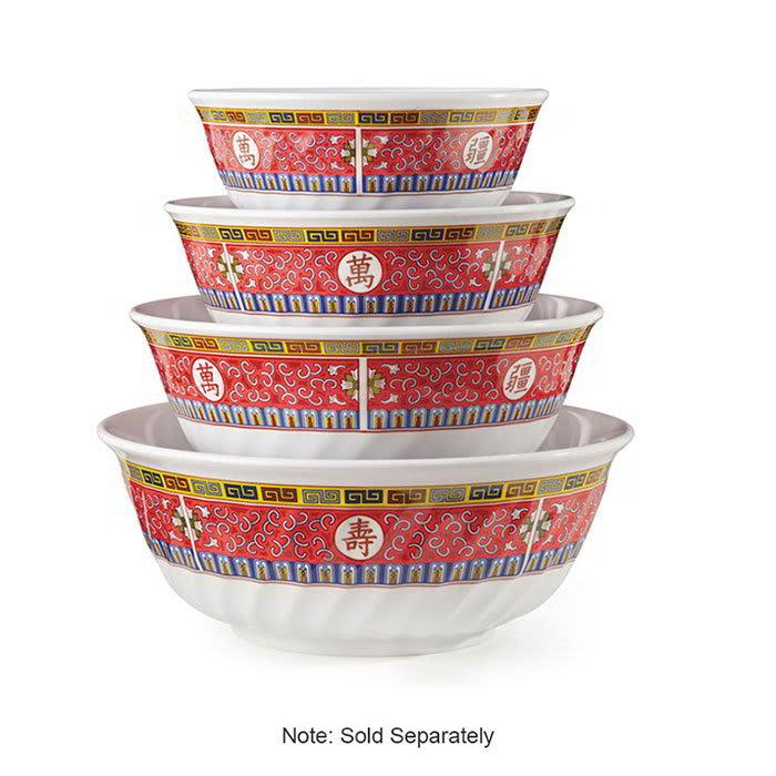 "GET M-606-L 6"" Round Salad Bowl w/ 24-oz Capacity, Melamine, White"