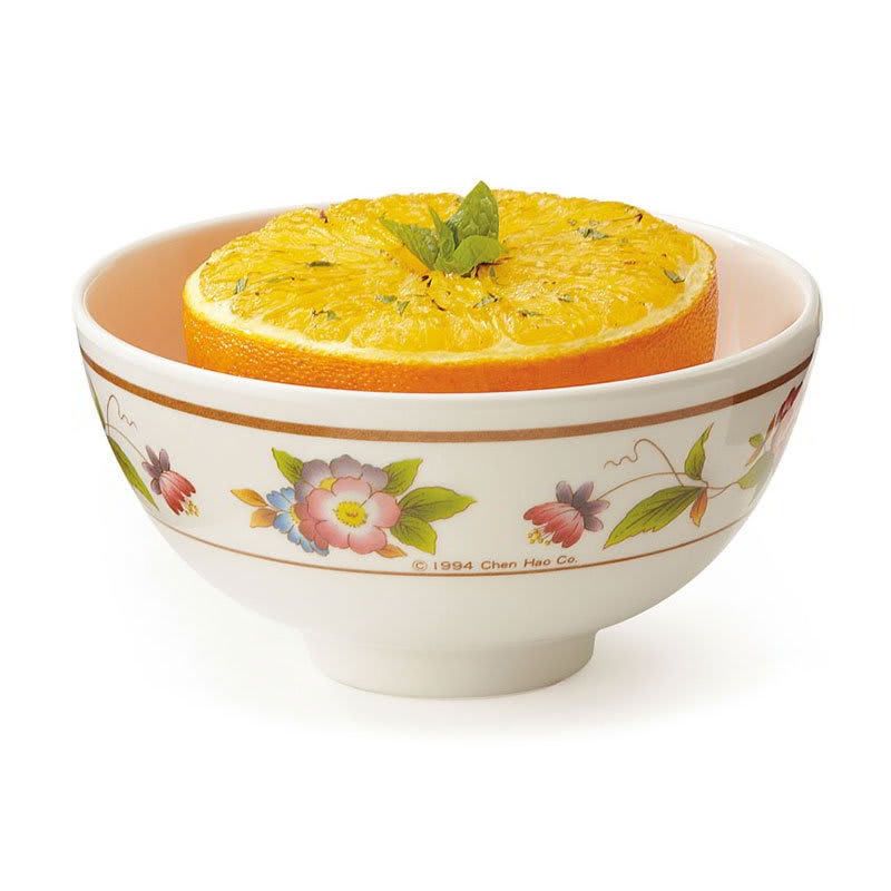 "GET M-768-TR 4.5"" Round Rice Bowl w/ 9 oz Capacity, Melamine, White"