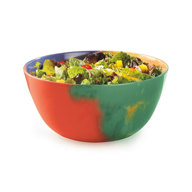 "GET M-815-CE 10.75"" Round Serving Bowl w/ 5 qt Capacity, Melamine, Multi-Colored"