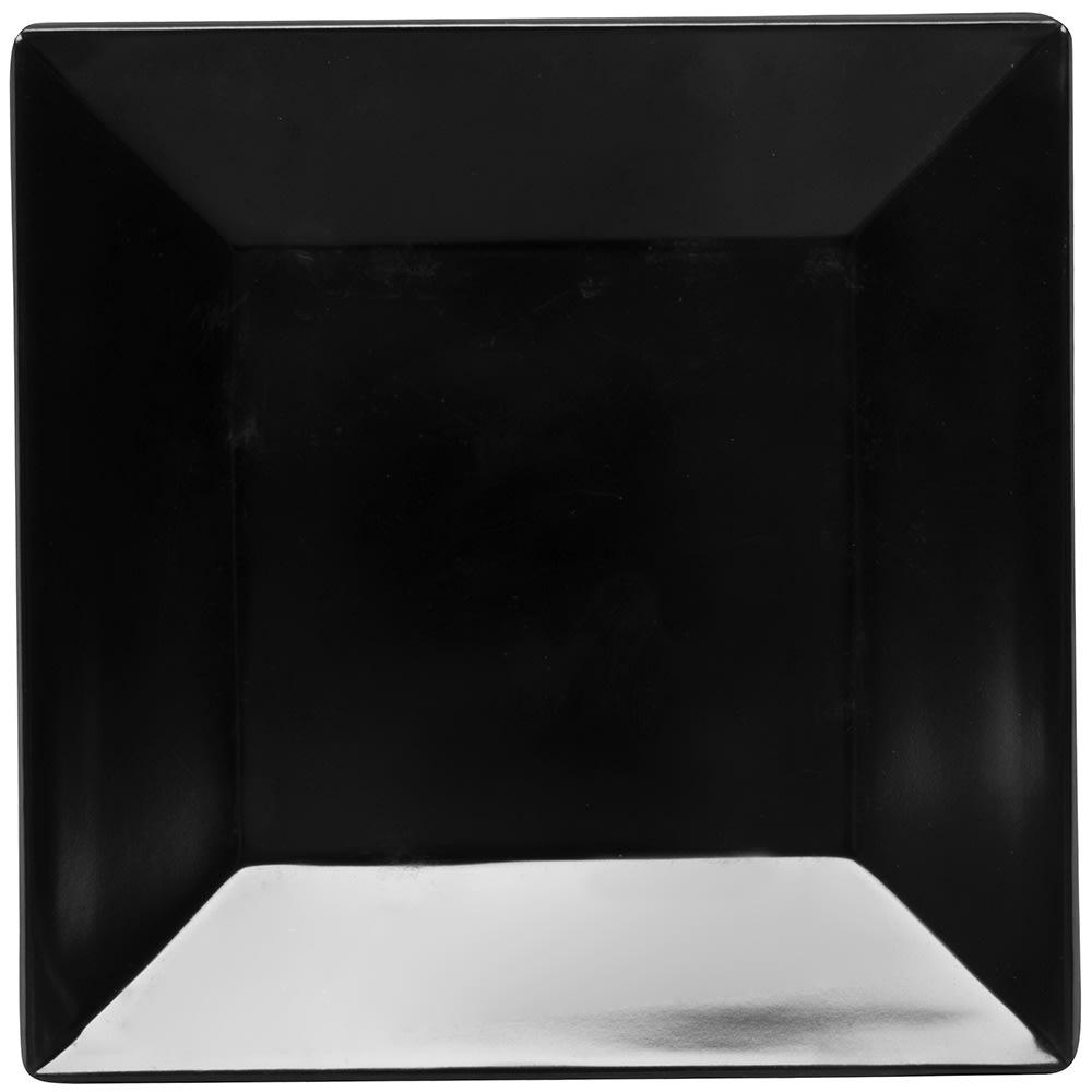 """GET ML-102-BK 6"""" Square Dessert Plate, Melamine, Black"""