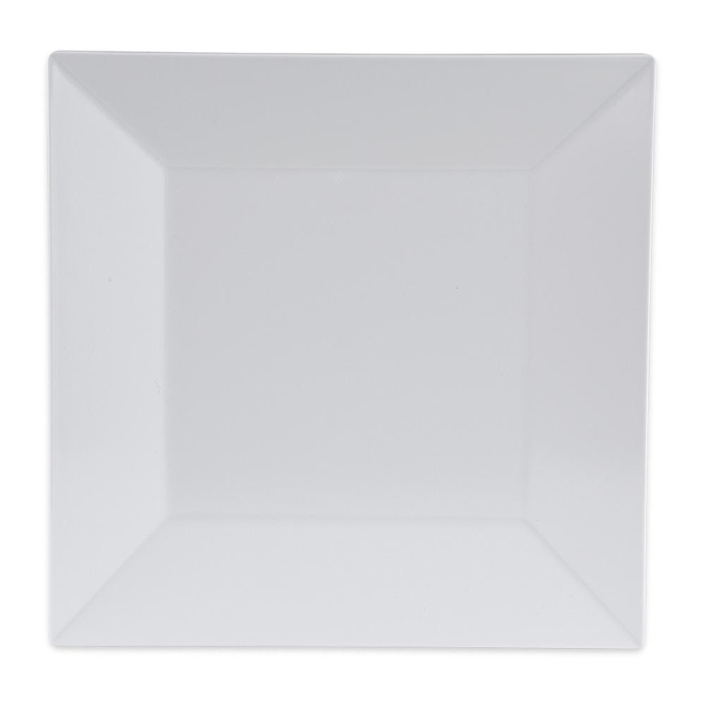 "GET ML-103-W 8"" Square Salad Plate, Melamine, White"
