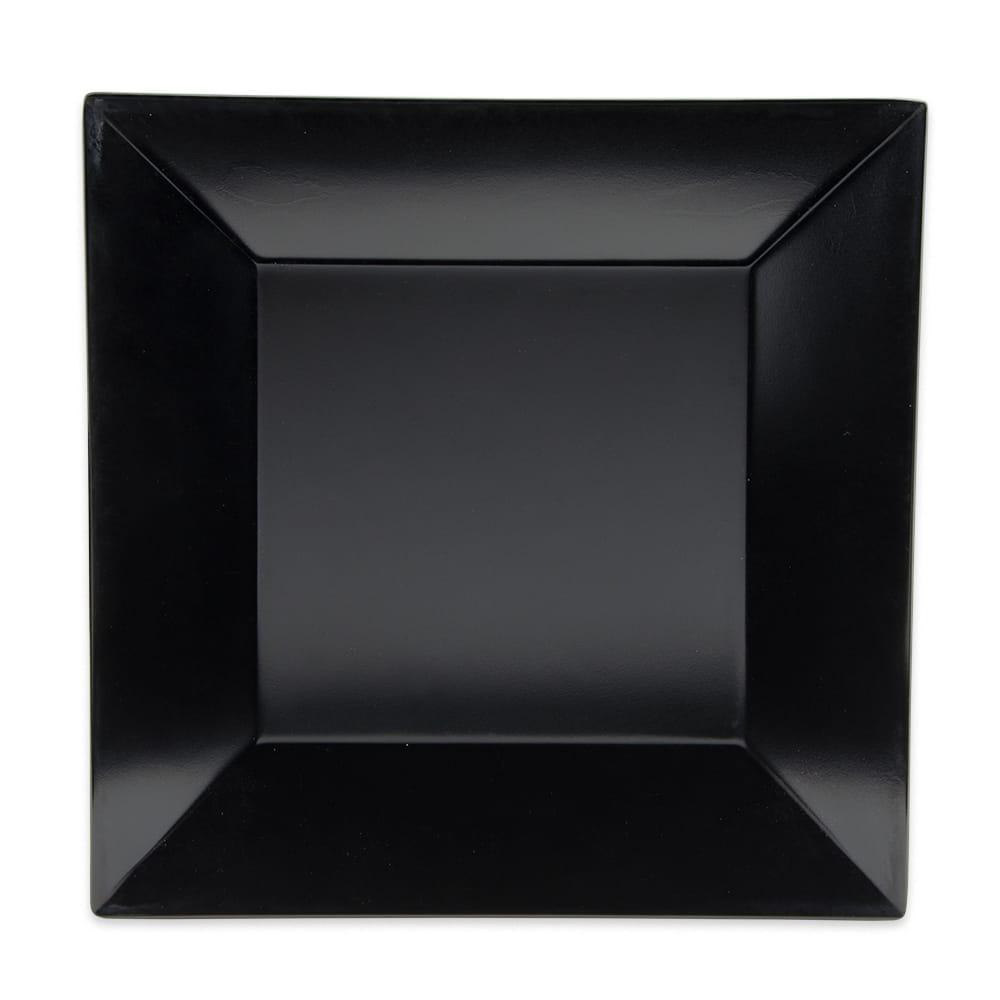 """GET ML-104-BK 10"""" Square Dinner Plate, Melamine, Black"""