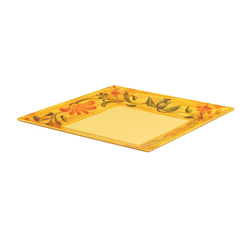 """GET ML-104-VN 10"""" Square Dinner Plate, Melamine, Yellow"""
