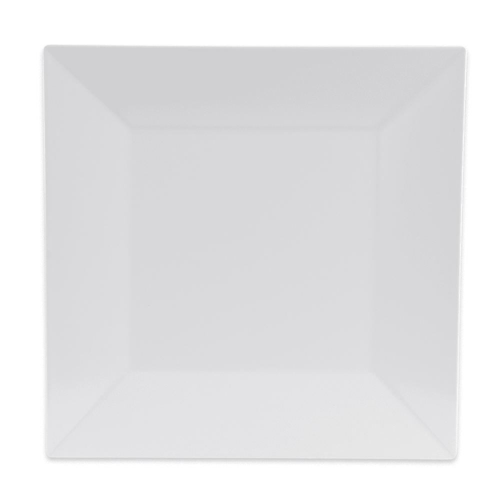 """GET ML-104-W 10"""" Square Dinner Plate, Melamine, White"""