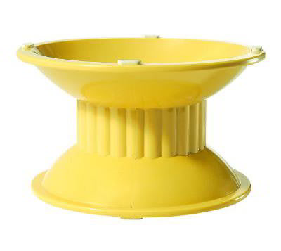 GET ML-106-TY 6.9 in x 6.3i n Pedestal, 4 in High, Melamine, Venetian Yellow