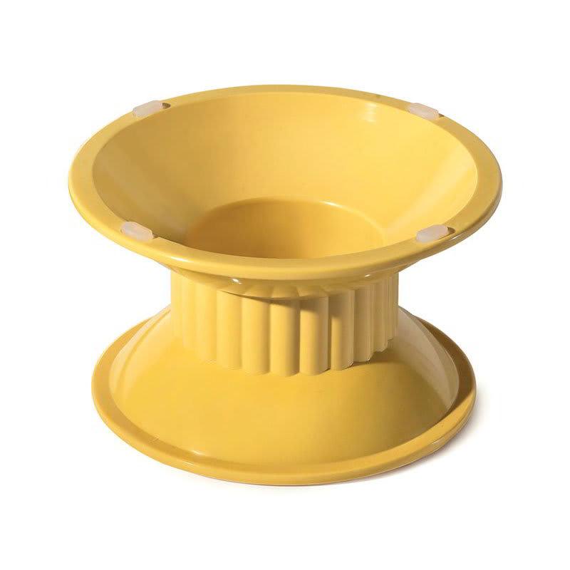 "GET ML-106-VN 4""H Pedestal Display Stand, Melamine, Yellow"
