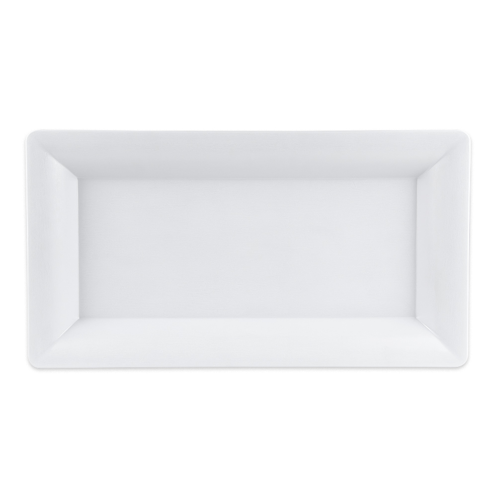 "GET ML-109-W Rectangular Display Tray, 10.25"" x 19"", Melamine, White"