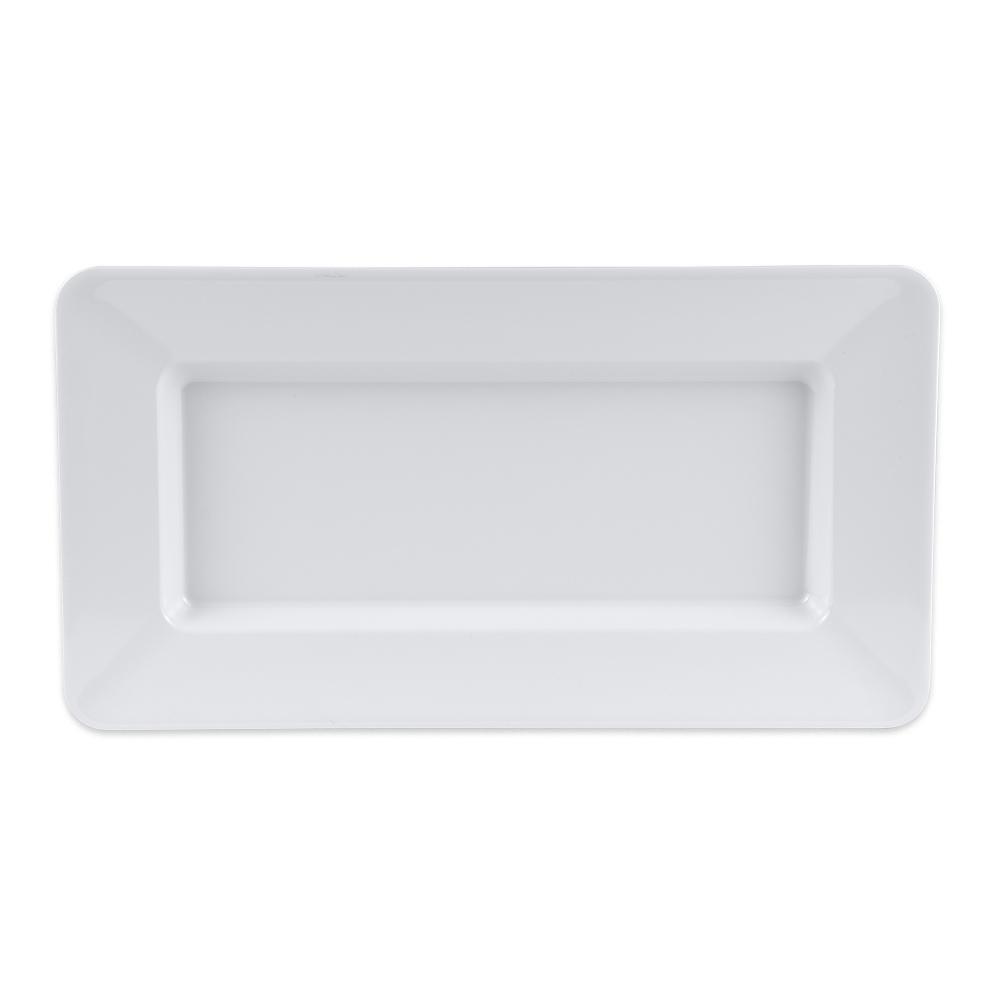 """GET ML-10-W Rectangular Platter, 15"""" x 8"""", Melamine, White"""