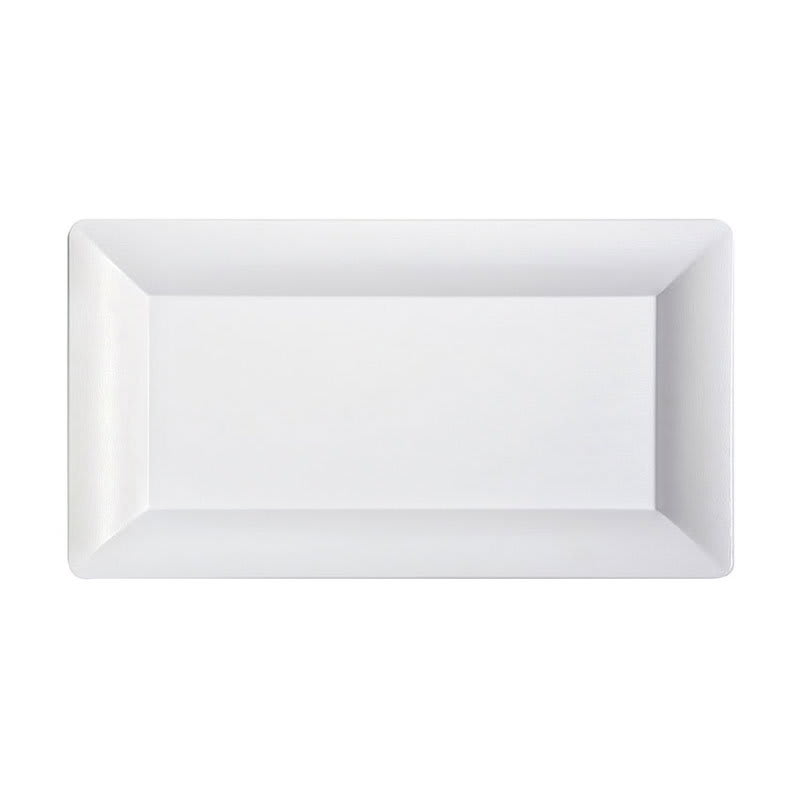 "GET ML-111-W Rectangular Display Tray, 13"" x 21.25"", Melamine, White"