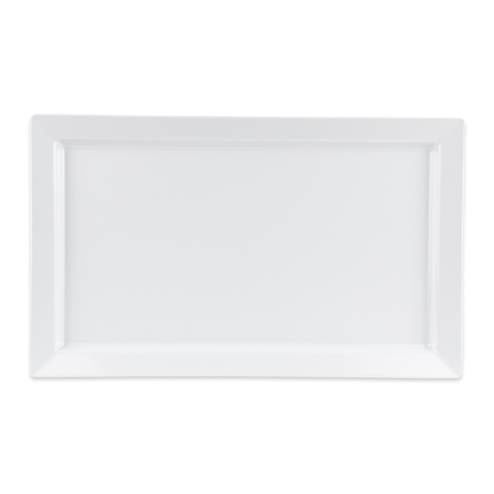 "GET ML-116-W Rectangular Display Tray, 18"" x 11"", Melamine, White"