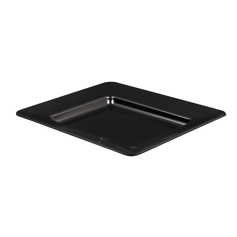 "GET ML-11-BK Rectangular Platter, 12"" x 10"", Melamine, Black"