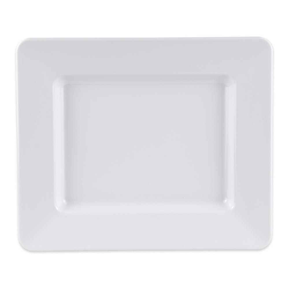 """GET ML-11-W Rectangular Platter, 12"""" x 10"""", Melamine, White"""