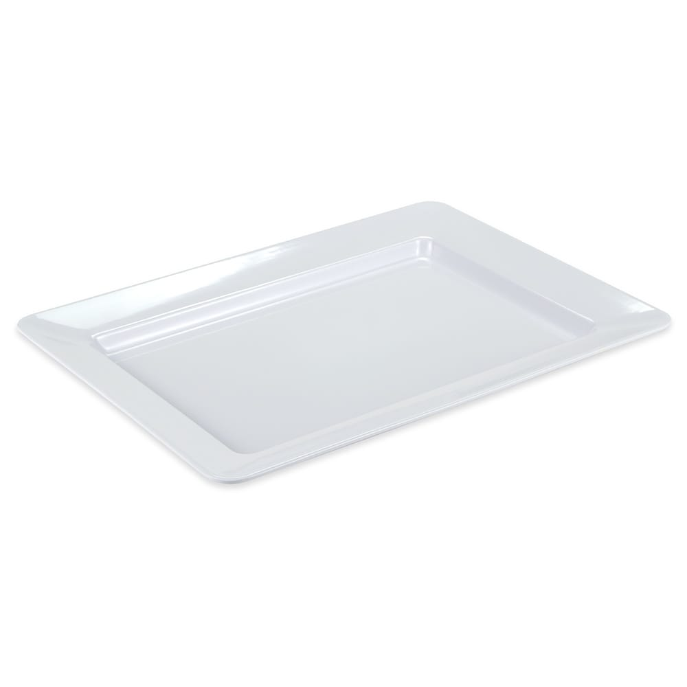 "GET ML-1216-W Rectangular Display Tray, 16.5"" x 12"", Melamine, White"