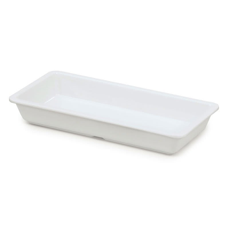 "GET ML-121-W Rectangular Entrée Dish, 9.25"" x 4.75"", Melamine, White"