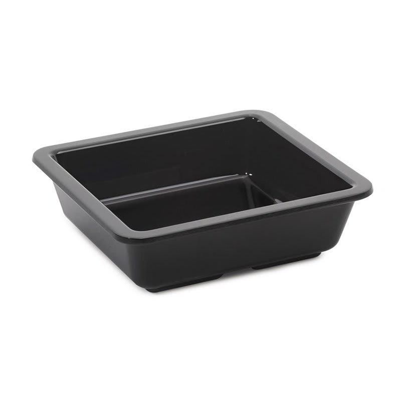 "GET ML-122-BK 4.75"" Square Side Dish, Melamine, Black"
