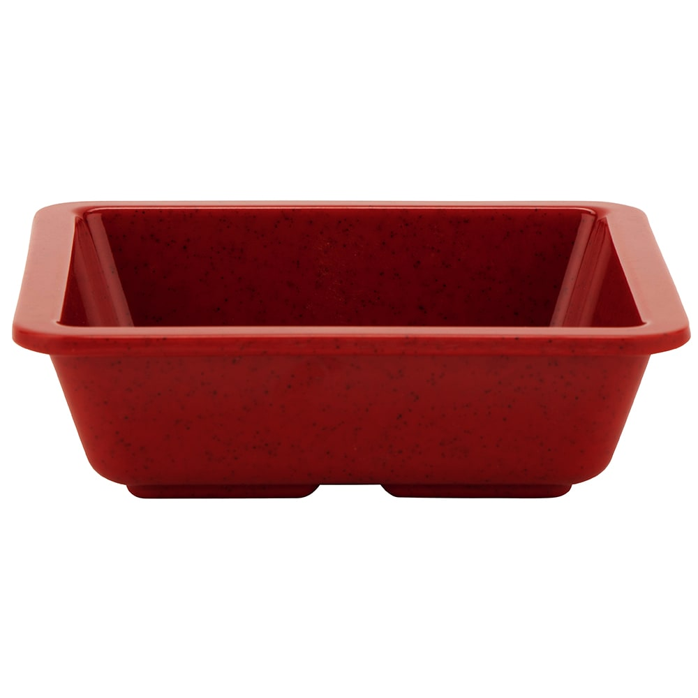 "GET ML-122-RSP 4.75"" Square Side Dish, Melamine, Red"
