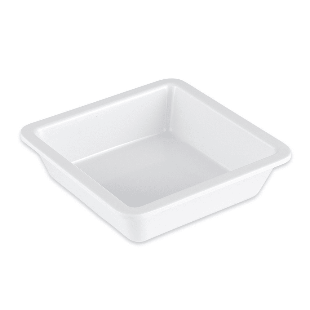 "GET ML-122-W 4.75"" Square Side Dish, Melamine, White"