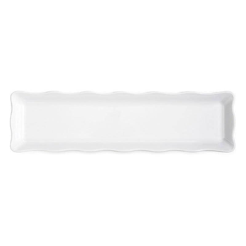 "GET ML-129-W Rectangular Display Tray, 21"" x 5.25"", Melamine, White"