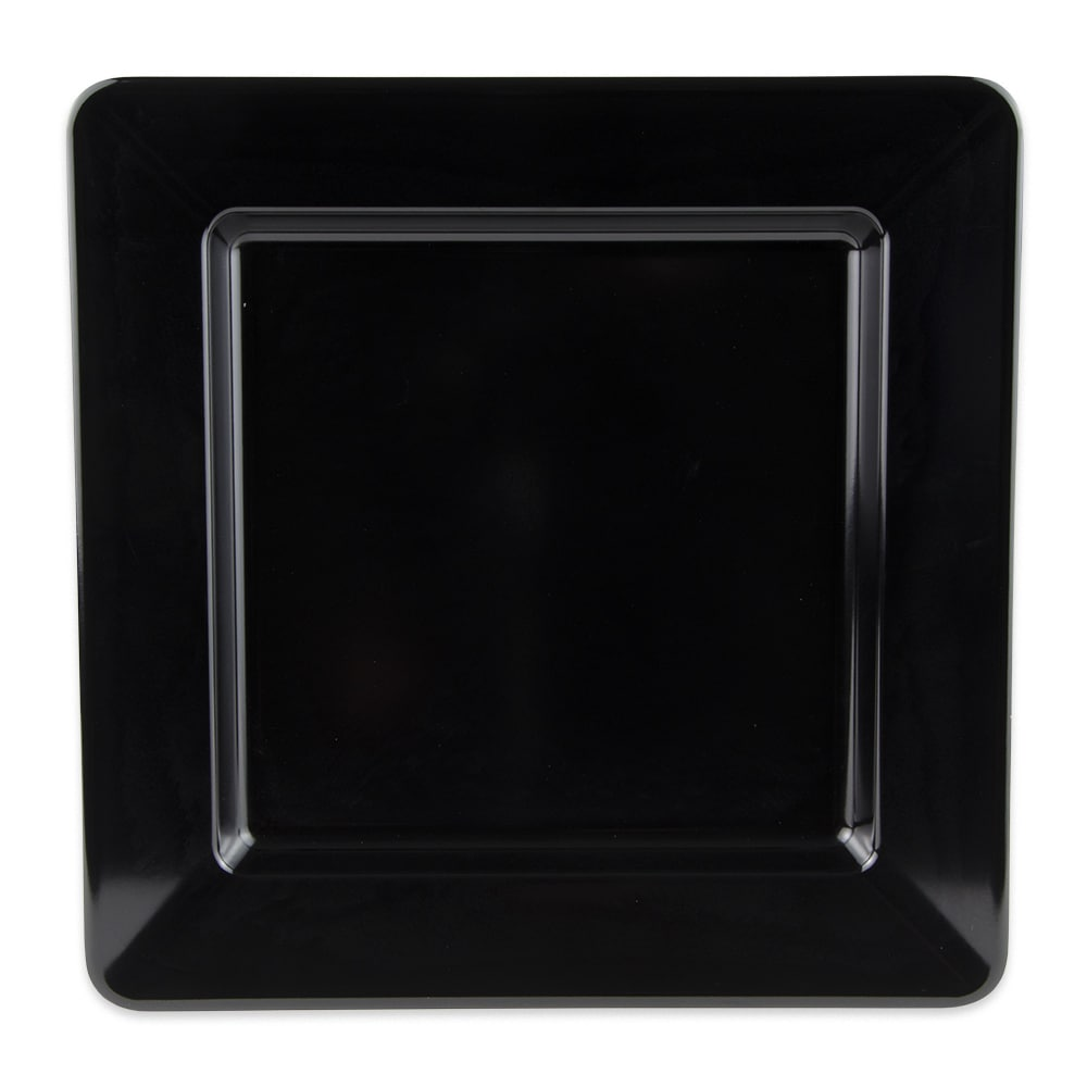 "GET ML-12-BK 12"" Square Dinner Plate, Melamine, Black"