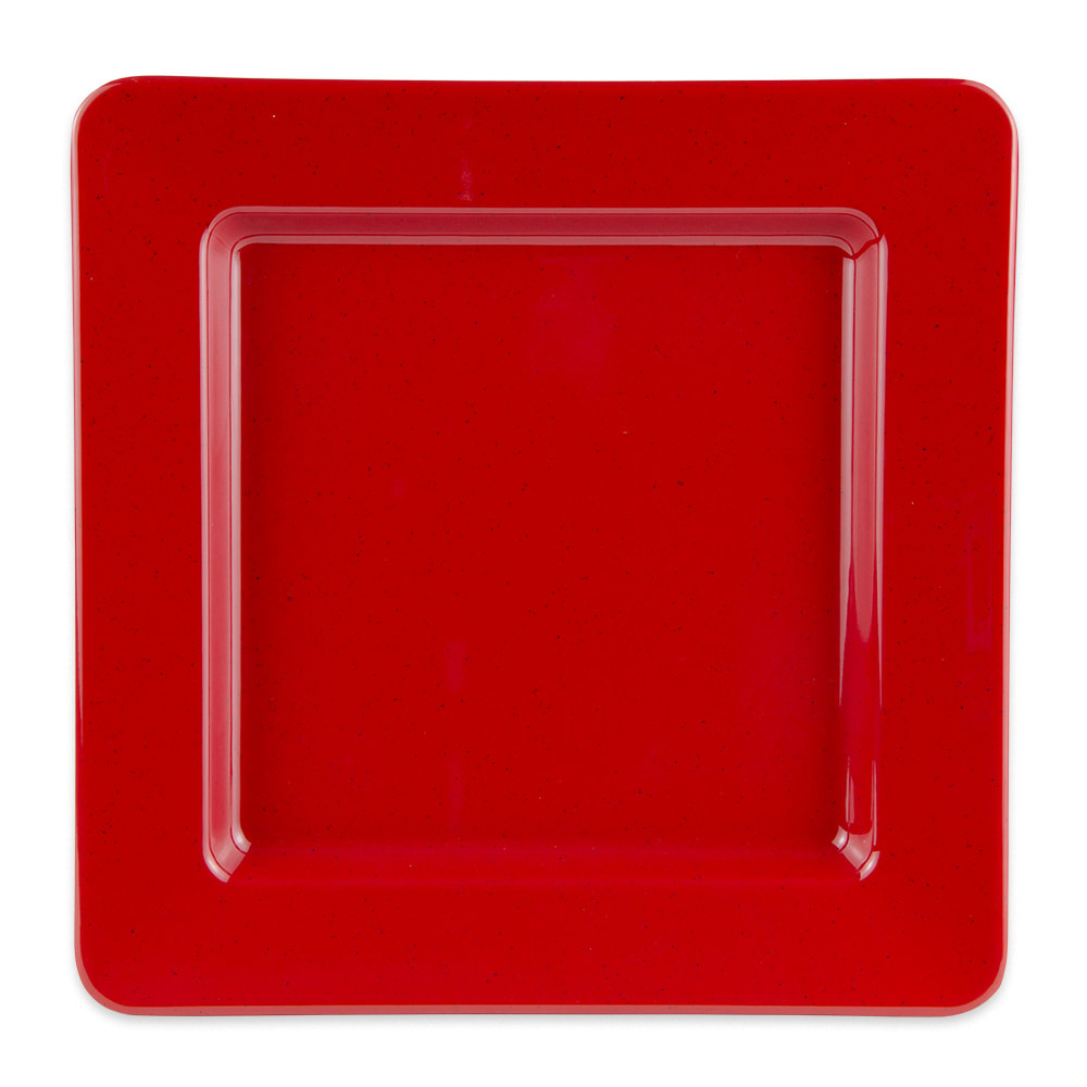 "GET ML-12-RSP 12"" Square Dinner Plate, Melamine, Red"