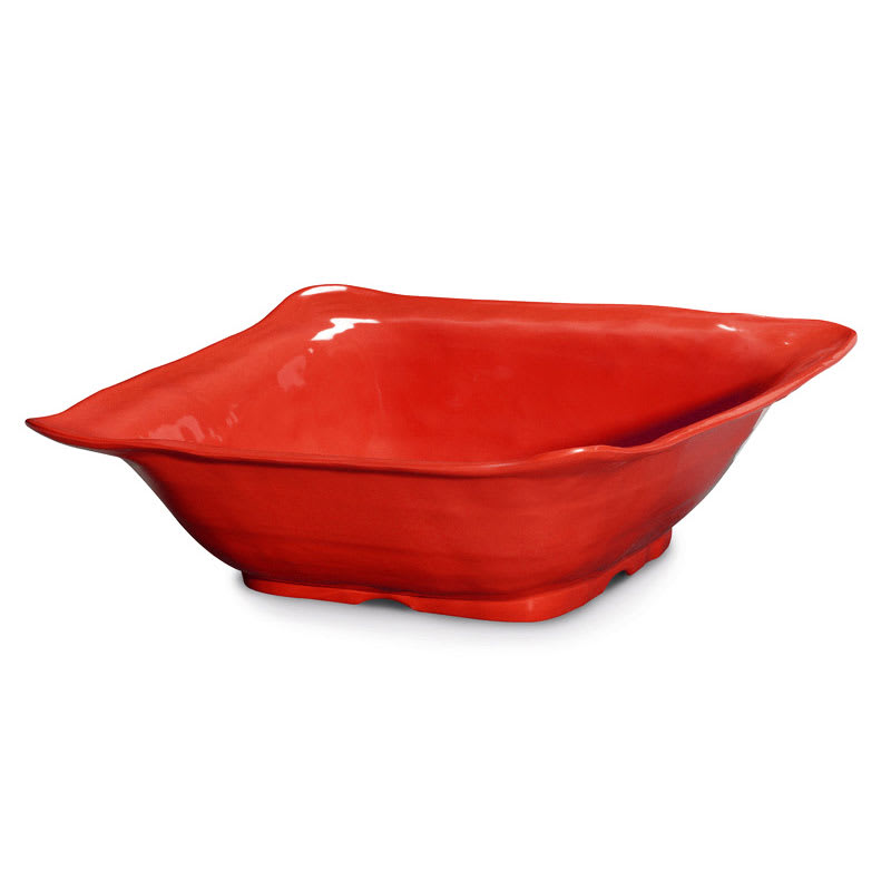 "GET ML-131-R 13"" Round Serving Bowl w/ 4.25 qt Capacity, Melamine, Red"