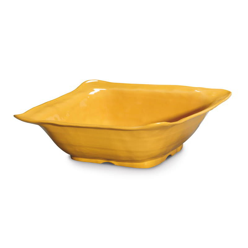 "GET ML-132-TY 15"" Round Serving Bowl w/ 6-qt Capacity, Melamine, Yellow"
