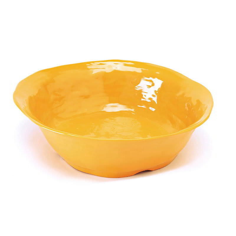 "GET ML-133-TY 14"" Round Serving Bowl w/ 4.25-qt Capacity, Melamine, Yellow"